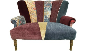Quirky Harlequin Love Seat