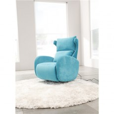 Fama Kim Electric Relax Armchair in Dalmata Leather