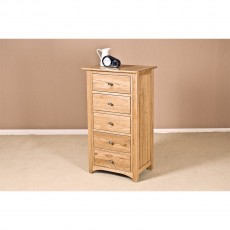 Our Furniture Carvalho 5 Drawer Wellington Chest