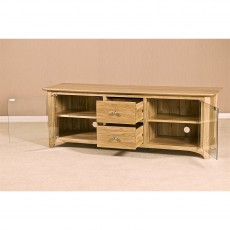 Our Furniture Carvalho LARGE TV UNIT WITH GLASS DOORS