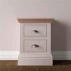 TCBC New England Bedroom Small 2 Drawer Bedside Chest