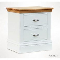 TCBC New England Bedroom Large 2 Drawer Bedside Chest