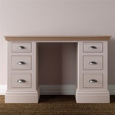 TCBC New England Bedroom Double Pedestal Dressing Table