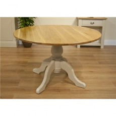 "TCBC New England Living & Dining 60"" Round Farmhouse Table"