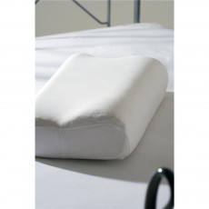 Belledorm Memory Foam Bedlinen White Contour Pillowcase Pair