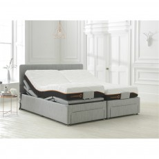 Octaspring Sorrento Adjustable  Set With Palermo Headboard, 6500 Mattress(es) and End Drawer(s)