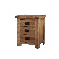 Our Furniture Normandy 3 DRAWER BEDSIDE