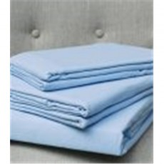 Design Port Brushed Cotton Blue Flat Sheet