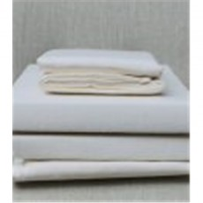 Design Port Brushed Cotton Cream Flat Sheet