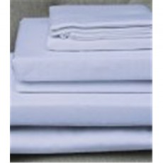 Design Port Brushed Cotton White Flat Sheet