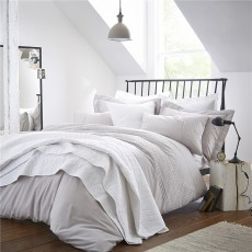 Bianca Embroidered Cotton Circle Duvet Set