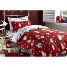 Catherine Lansfield Brushed Cotton Elfie Bed Set In A Bag
