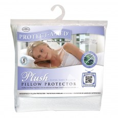 Protect-A-Bed Plush  Waterproof Pillow Protector (single)