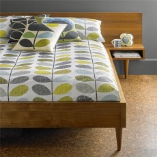 Orla Kiely Scribble Stem Duvet Cover Duck Egg