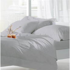 The Lyndon Company 400 Thread Count Silver Duvet Set