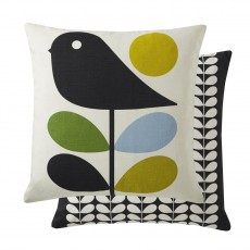 Orla Kiely Early Bird Feather Filled Cushion, Duck Egg