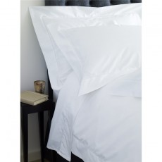 Studio Collection 420 Hemstitch Duvet Cover White