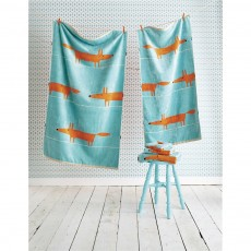 Scion Mr Fox Aqua Towel