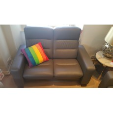 Stressless Wave 2 Seater High Back -  Leather - CLEARANCE