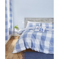 Catherine Lansfield Boston Check Blue Duvet Set