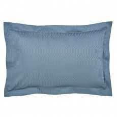 Peacock Blue Hotel Rivage Prussian Blue Oxford Pillowcase