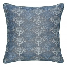 Peacock Blue Hotel Sanremo Embroidered Cushion Blue