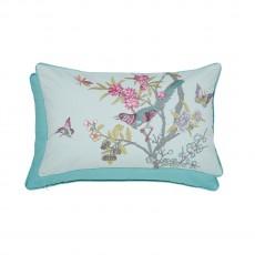 V&A Chinese Bluebird Aqua Cushion