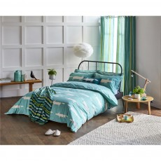 Scion Mr Fox Teal Duvet Cover