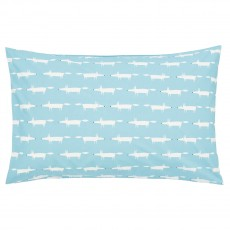 Scion Mr Fox Teal Housewife Pillow Case Pair