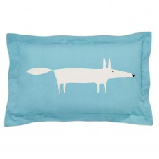 Scion Mr Fox Teal Oxford Pillow Case