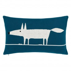 Scion Mr Fox Teal Marine Cushion