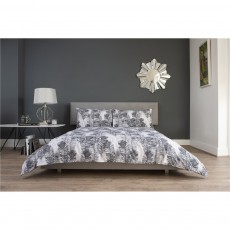 The Lyndon Company Peacock Feather Grey Duvet Set