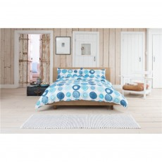Lobster Creek Retro Blue Duvet Set