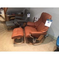 Stressless Live Chair With Footstool - Large -  Leather - CLEARANCE
