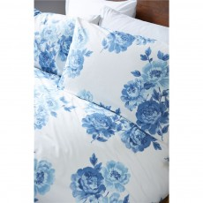 Cath Kidston Peony Blossom Blue Housewife Pillowcase