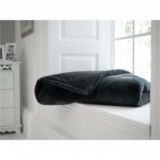 Deyongs Bollingbroke Charcoal Quilted Throw