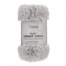 Catherine Lansfield Cuddly Silver Throw