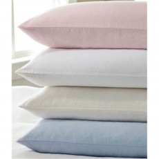 Design Port Brushed Cotton White Housewife Pillowcase (Pair)