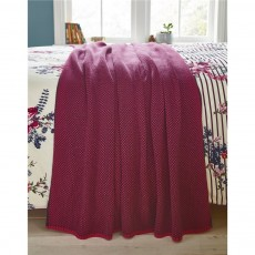 Joules Harvest Garden Floral Knitted Throw