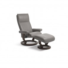 Stressless Aura Small Classic Base Chair with footstool