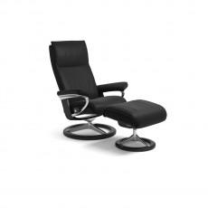 Stressless Aura Small Signature Base Chair with footstool