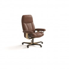 Stressless Consul Medium Office Chair (Wood Base)