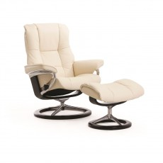 Stressless Mayfair Small Signature Base Chair with footstool