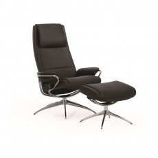 Stressless Paris Chair with High Star Base including footstool