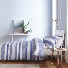 Catherine Lansfield Newquay Stripe Blue Duvet Set