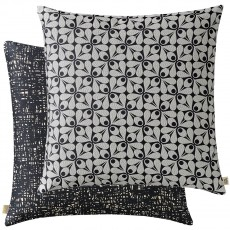 Orla Kiely Acorn Cup Woven Charcoal Feather Filled Cushion