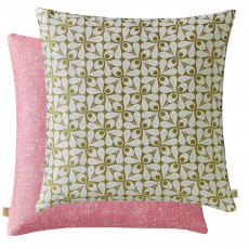 Orla Kiely Acorn Cup Woven Moss Feather Filled Cushion