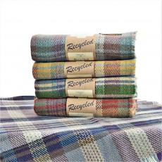 Tweedmill Picnic Rug Random Design - Recycled Wool