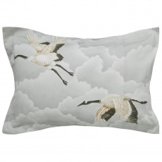 Harlequin Cranes In Flight Oxford Pillowcase