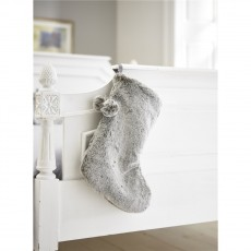 Deyongs Frosted Faux Fur Silver Stocking